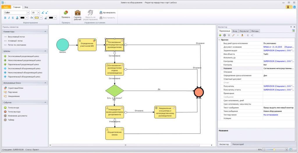 Пример интерфейса LanDocs 3